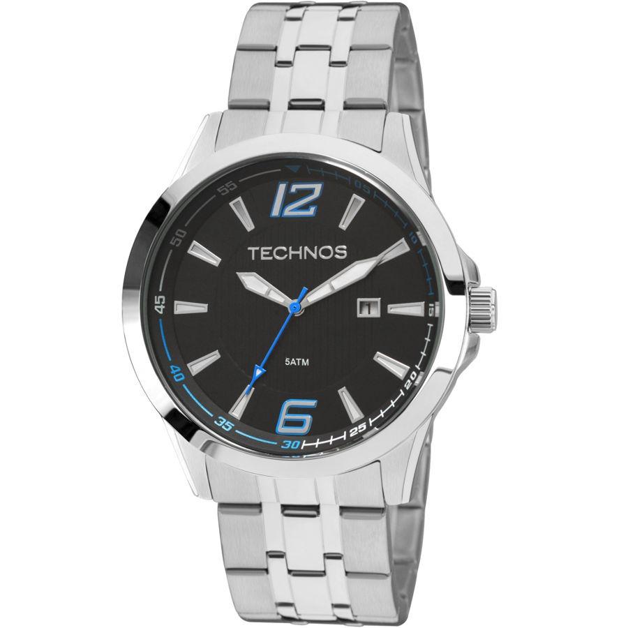 22756338971 relógios masculinos technos aço inox 2115kqc1a original c nf. Carregando  zoom.