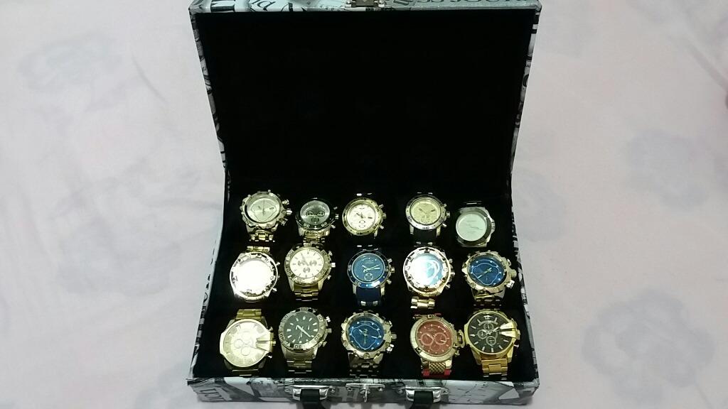 5355aee43fa Relógios No Atacado Mala Com 15 Relógios Invicta E Atlantis - R ...