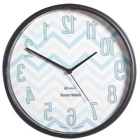 ce4f71b27f1 Relógio De Parede Krügertime Com Fuso Horário no Mercado Livre Brasil