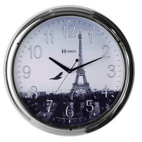 ea1ca3bfb2e Relógio De Parede 40cm Silencioso Cromado Herweg 660057s