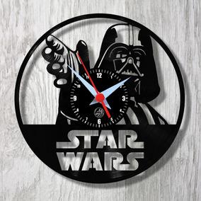 ae33baae3 Relógio De Vinil Disco Lp Parede | Star Wars - Darth Vader
