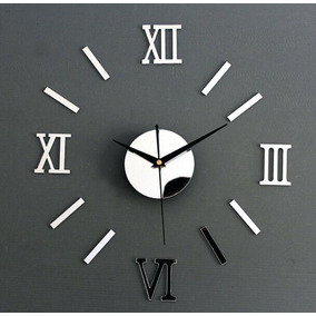 6242d420741bf Relógio Parede Monte Você Mesmo Espelho Sala Cozinha