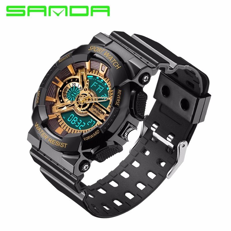 6f33a20ad51 relógios prova d´água digital barato estilo militar g-shock. Carregando  zoom.