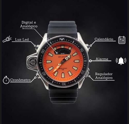 relógios pulseira de borracha masculinos atlantis aqualand