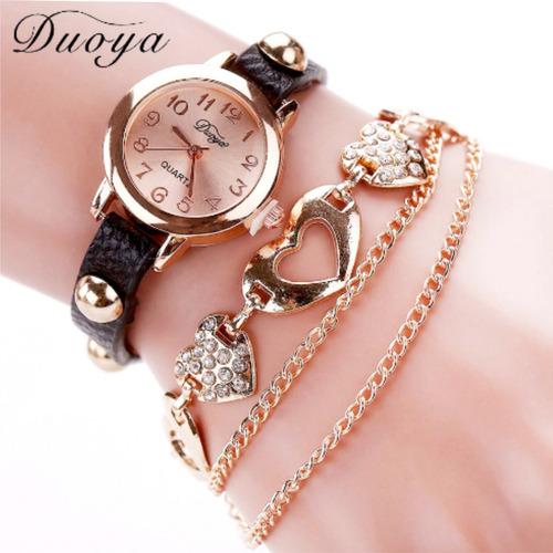 relógios pulseira de ouro cristal