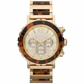 f1552968e1a Relógio Michael Kors Mk5416 Tartaruga C Dourado Pedras Novo ...