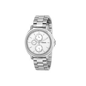 5043d971ad1ab Relógio Feminino Fossil Es3355 Prata Novo Original