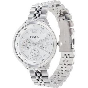 18a55515c5cfb Relógio Feminino Fossil Es3239 Prata Novo Original