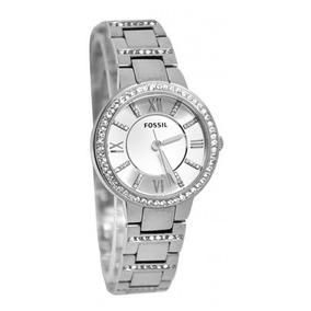 951a1a51fe694 Relógio Feminino Fossil Es3282 Prata Strass Novo Original
