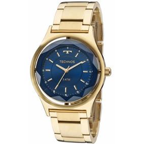42c5f974fcd0e Relógio Technos Feminino Crystal Elegance 2035mic 4a Dourado