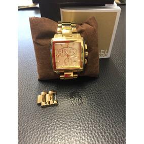 0714860ccc6 Relogio Michael Kor Quadrado Dourado - Relógio Michael Kors Feminino ...