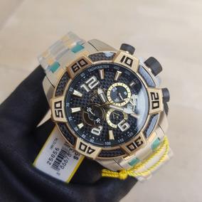 dfb9b03ac77fd Relógio Estilo Invicta Replica Prata Com Dourado Masculino ...