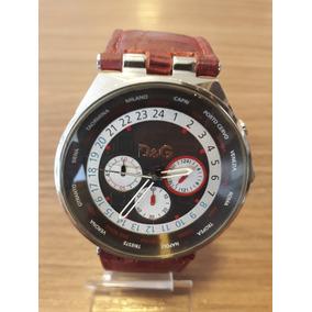 24ca76cfdd602 Relogio Dolce Gabbana Masculino Couro Esportivo - Relógios De Pulso ...