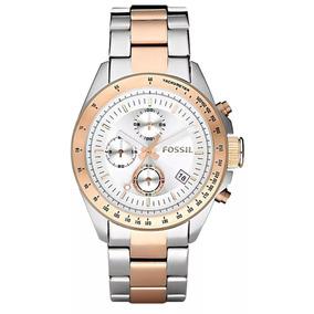 d95df777a072d Relógio Fossil Prata Com Rose Feminino De Luxo - Relógios De Pulso ...