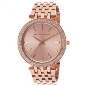 cc2538941e7ec Relogio Feminino Dourado Rosa Mk - Relógios De Pulso no Mercado Livre Brasil