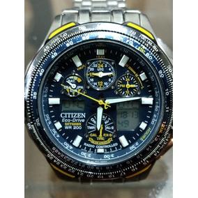 44dee8dfa77 Citizen Eco Drive Blue Angel Skyhawk Titanium Jy0050 55l - Relógio ...