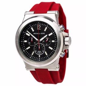 2c22e54602612 Relógio Michael Kors Pulseira Vermelha - Relógios no Mercado Livre ...