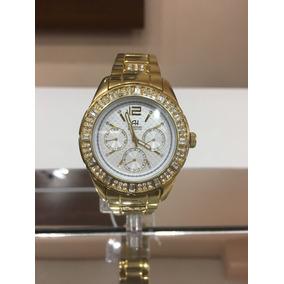 2f278d7c67014 Relógio Feminino Dourado Ana Hickmann Ah28624h - Relógios De Pulso ...