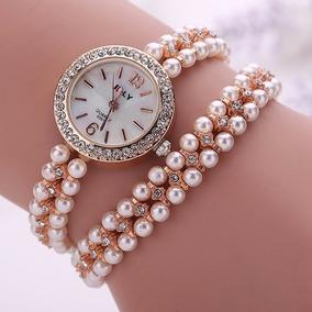 e26b08ddfc5 Relogio Pulseira Pérolas - Relógio Feminino no Mercado Livre Brasil