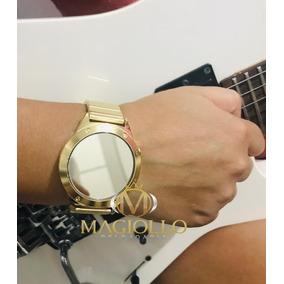 b5b15ad568788 Relogio Feminino Espelhado E Dourado - Relógios De Pulso no Mercado ...