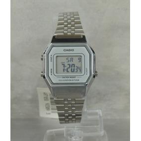 adbe87501525 Relogio Casio La680wa 7 Prata C cinza Mini Retrô La680 670 - Relógio ...