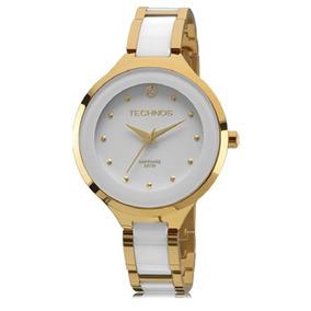 ed9dddd16c0 Relogio Technos Feminino Elegance Ceramic Safira - Relógios no ...