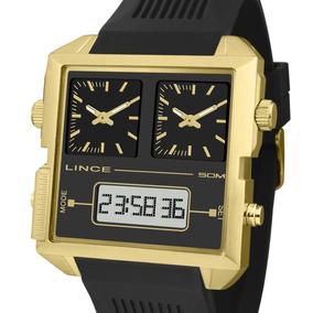 bc3f4f2e2 C352 Kit Relógio Masculino Social Lince + Carteira - Relógios no ...