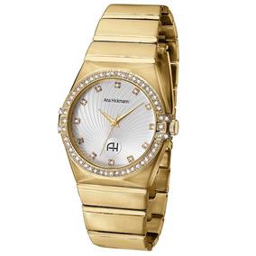 f1ad349b3bc6f Relogio Feminino Dourado Ana Hickman - Relógios De Pulso no Mercado ...