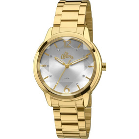 d84287d926f06 Relogio Feminino Allora Prata E Dourado - Relógios De Pulso no ...
