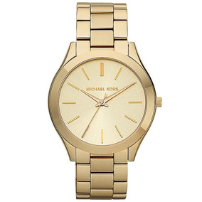 005eb8324a71b Relógio Michael Kors Slim Runway Gold Mk3275 - Relógios De Pulso no ...