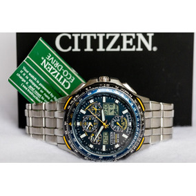 b30144f0edd Citizen Eco Drive Titanium Skyhawk Blue Angels Jr3097 59m - Relógios ...