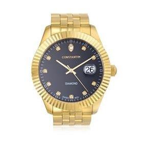 c89a7bc7422 Relógio Constantim Diamond Gold Black