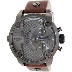 91f77d404ad Caixa De Relogio De Couro Diesel Original Couro Branco - Relógios De ...