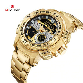 61dc3d9f4d4 Relogio Bvlgari Dourado Prova Dagua De Luxo Masculino - Relógios De ...