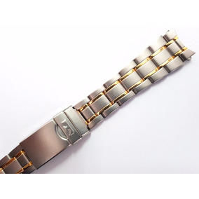 47b89bbf8c0 Pulseira Dourado Technos Skydiver T205.47 20mm - Relógios no Mercado ...