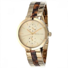 fb67e289a6459 Relógio Michael Kors Mk6471 Ouro Femenino