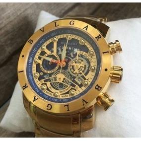 25230f4724e Relogio Bvlgari Skeleton Dourado - Relógios De Pulso no Mercado ...