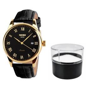 9b2f5d7a2e320 Relogio Masculino Pulseira Couro Luxo - Relógio Masculino no Mercado ...