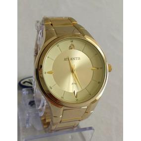 681d732cae9 Relógio Feminino Dourado Atlantis Original - Relógios De Pulso no ...