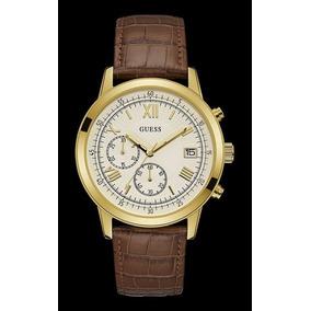 81cf5a69148c1 Relógio Masculino Guess W15521g1 Couro Dourado E Marrom - Relógios ...