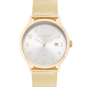 5c8420da1d84c Relógio Technos Feminino Dourado Pulseira Esteira 2115mnk 4k