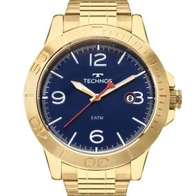ec7944d62d345 Relógio Technos Masculino Dourado Original Barato 2315kzp 4a