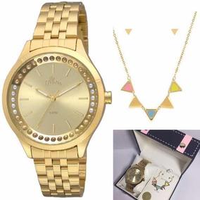 41db8c8fb329b Relogio Feminino Ouro Allora - Relógios De Pulso no Mercado Livre Brasil