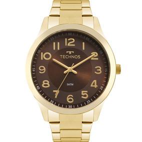 3d87066d296 Relógio Technos Feminino Promoção Dourado Marrom 2035mpv 4m