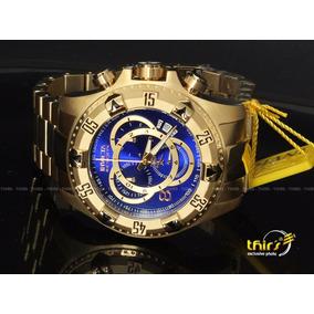 Invicta Reserve U1 6469 Banhado A Ouro 18k Original