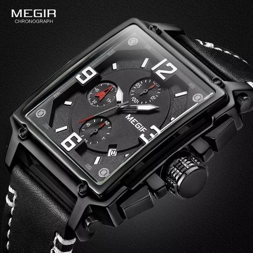 relógios quartz marca de luxo megir exército militar
