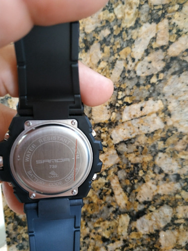 relógios sanda analógico digital estilo g-shock militar