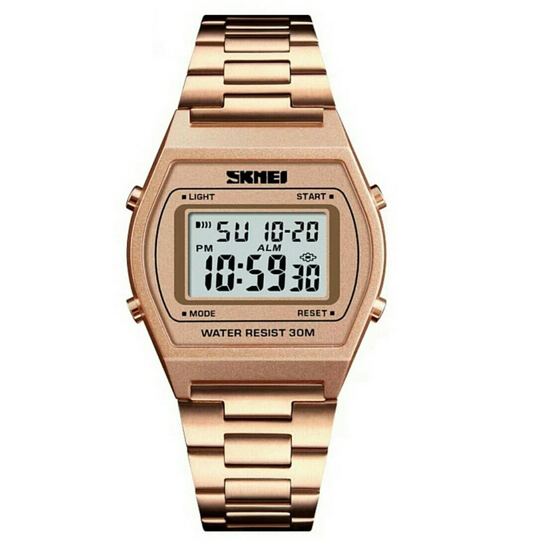 991af29e211 Relógios Skmei 1328 Prata Digital Unissex À Prova D água - R  56