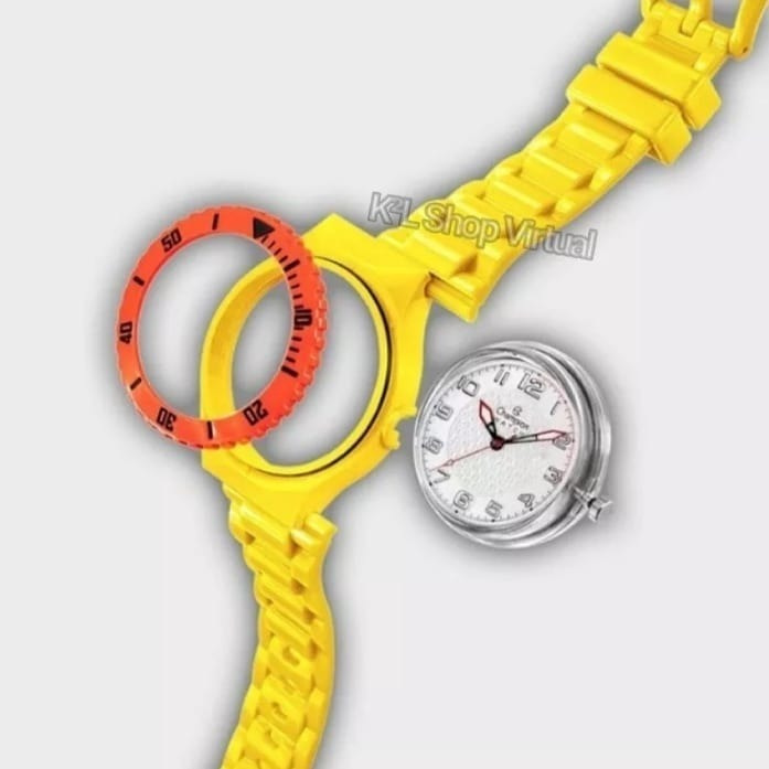 89c6c0a9439 Relógios Unissex Champion Cp30119x + 5 Pulseiras Colorida!! - R  69 ...