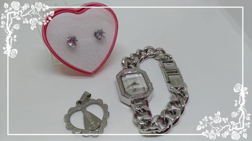 relógiotechnos k190503  feminino webclock kit platinum